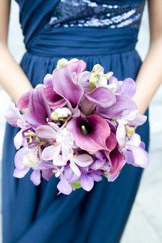 calla lilies, weddings, colors, bouquet wedding, floral designs, bridesmaid bouquets, purple bouquets, flower, calla lillies