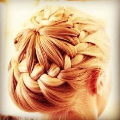 "another view of the ""circle braid"" (french braid from a ponytail)"