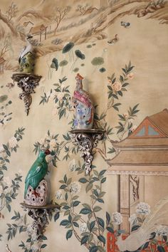 Chinoiserie wall detail.