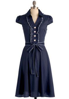 Cute navy blue dress.