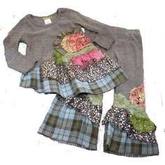 Little Mass Chloe's Closet Ruffled Dress and Pants Denim & Daisies