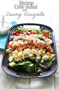 Shrimp Cobb Salad with Creamy Vinaigrette