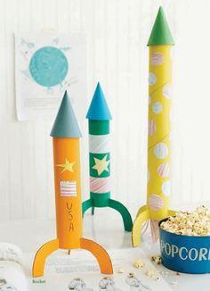 manualidades con niños para hacer cohetes DIY 2 Manualidades con niños para hacer cohetes DIY