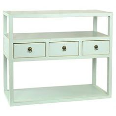 love this minty side table