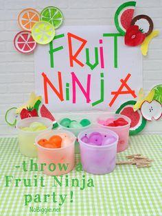 Fruit Ninja party ideas via NoBiggie.net