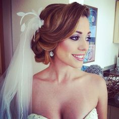 bridal hair, not exactly my style but still very classy :)
