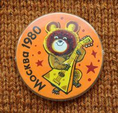 Vintage Soviet pin,badge.Moscow Olympics 80.. $4.00, via Etsy.