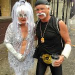 Only in #NOLA! Gotta love #MardiGras costumes.