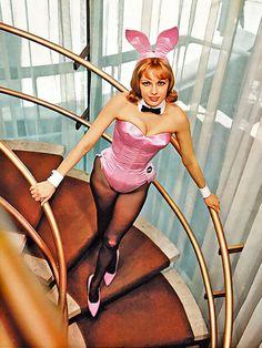 Playmate-Bunny Lynn Karrol (December 1961) in the Chicago Playboy Club