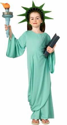 Child's Statue Of Liberty Halloween Costume (Size: Small 4-6) . $9.99