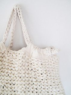 Knitted bag.