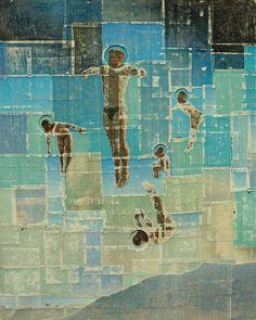 starv artist, southern cross, paper, onlin artist, collag, art newest, graphic art, artist pavel, cross art
