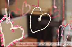 Valentine's Day string garland - SO SIMPLE TO MAKE! | Delineate Your Dwelling