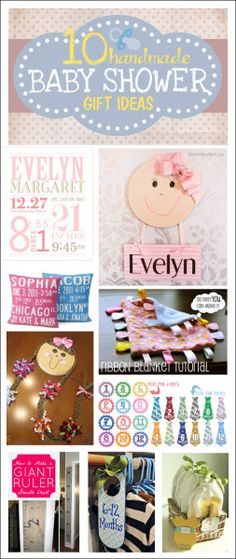 baby shower gift ideas. LOVE some of these ideas!