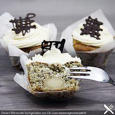 Chefkoch.de Rezept: Marzipan-Mohn Cupcakes