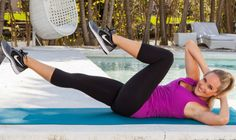 """Ever tried a side plank plie? Try one in my """"Muffin Top Melter"""" workout! It's the 1st in our #4weekstofit plan on @SHAPE magazine! Free Fat-Burning Abs Workout Video - Shape Magazine"""