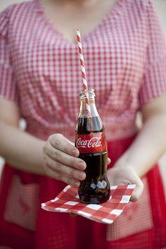 An ice cold Coke in a bottle♥♥♥♥♥