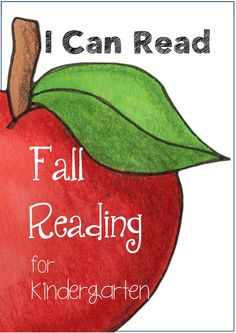 I Can Read Fall Reading Center for Kindergarten {vocab cards & sentence work}  This Fall themed reading center is ideal for the first months of Kindergarten. This resource will compliment your reading program and help children who are just learning to read.$