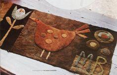 penney rug, hook rug, quilt, felt wool, wool applique, wool penni, felt idea, penni rug, felted wool