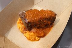 South Africa - Seared Filet of Beef with Smashed Sweet Potatoes and Braai Sauce
