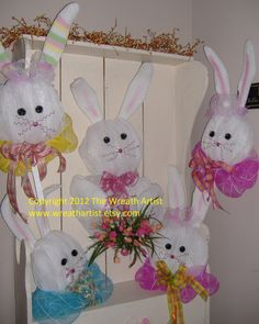Easter Bunny Wreath  Deco Mesh How To Make by HomeTownHolidays