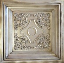 DCT 03 Coffered Faux Tin Ceiling Tile  - 24x24 - Antique White $9.99  This tile is 2.5 inches deep.. Now that is some depth.
