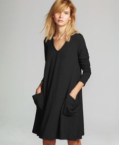The ME+EM Trapeze Pocket Dress is the best in casual luxury for your off duty days.