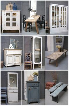 Brocante on pinterest vans vintage shabby chic and shabby chic - Ijzeren nachtkastje ...