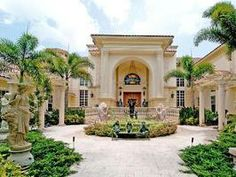 Front Exterior: Massive McMansion in Broward County