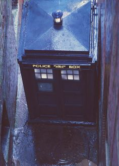 I love this shot. It's such a different angle of the TARDIS.