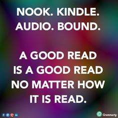""" AGREED!!! READ MORE BOOKS! """
