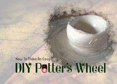 potteri wheel, craft, diy pottery wheel, diy potters wheel, wheels, potter wheel, quick, diy potteri, simpl potteri