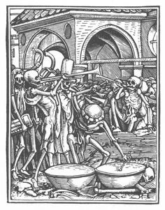 Illustration by Hans Holbein the Younger from the Dance of Death