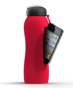 Love this idea... too bad it doesn't fit my phone, though.. Bazooka Red 18-Oz. Beat Bottle by Ad-N-Art on #zulily today!