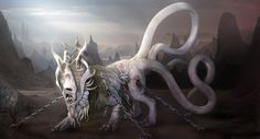 The beast belongs to the Goddess Sovanna, and has been captured against its will by the Demon Guard.