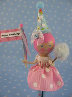 Cute birthday cake topper