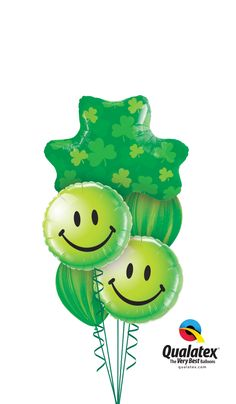It's not a St. Patrick's Day party without the green balloons!