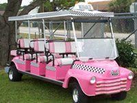 Pink double golf cart #uaegolf #golf #golfcart