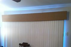 DIY Valance for vertical blinds