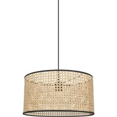 Suspension, chic, rotin, naturel, COREP, Cannage 1 lumière 38 cm | Leroy Merlin