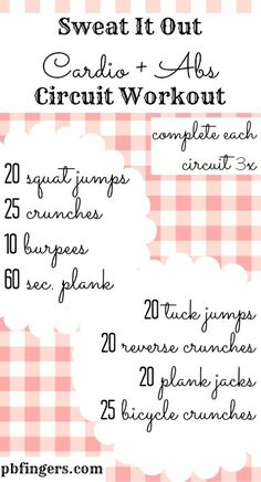 Cardio and Abs Circuit Workout