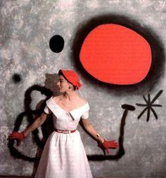 Bettina at the Joan Miró Show