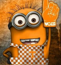 Even the minions get it :) minions, university of tennessee, rocki top, big orang, sport, oranges, sweet home, rocky top, footbal