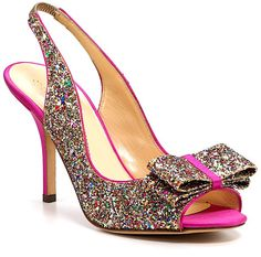 Kate Spade Multi color glitter shoes