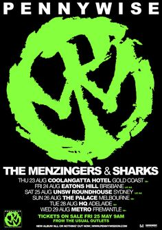 Pennywise Australian Tour -  Details at http://www.bombshellzine.com/blog/2012/05/pennywise-australian-tour-w-menzingers-sharks/