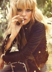 kate moss fashion smoking cigarette