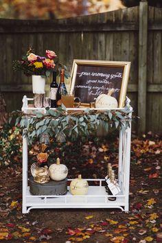 Fall Bar Cart | theglitterguide.com