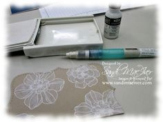 cardmaking photo tutorial: whitewashing technique with craft ink ... delightful!!!