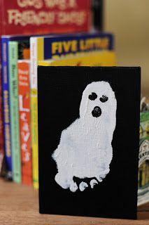 Baby Ghost Footprint by rustsunshine: Happy Halloween!  #Halloween #Kids #Ghost #Footprint