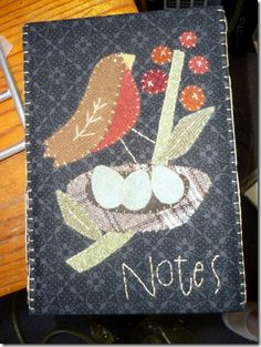 wool work on note book